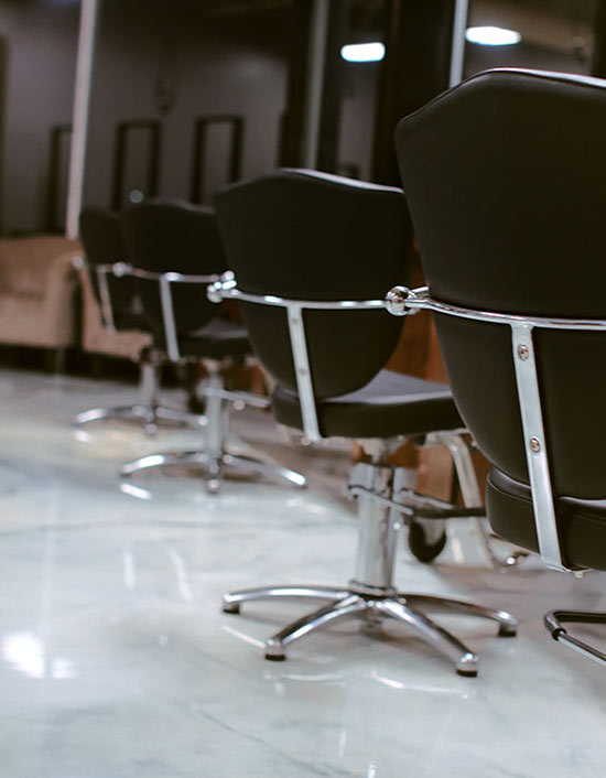 Image of the Protege studio barber chairs lined up